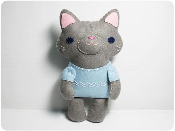 Little Gray Cat - PDF Doll Pattern